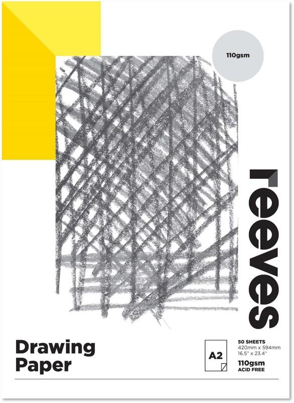 Reeves: Drawing Pad - A2 (110GSM, 50 Sheets)