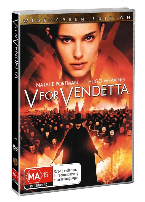V For Vendetta on DVD