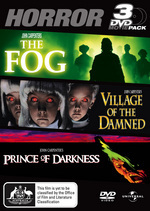 Fog / Village Of The Damned / Prince Of Darkness - 3 DVD Movie Pack (3 Disc Set) on DVD