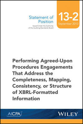 SOP 13-2 Performing Agreed-Upon Procedures Engagements -XBRL-Formatted Information by Aicpa image