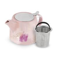 Harper Pink Abstract Ceramic Teapot & Infuser