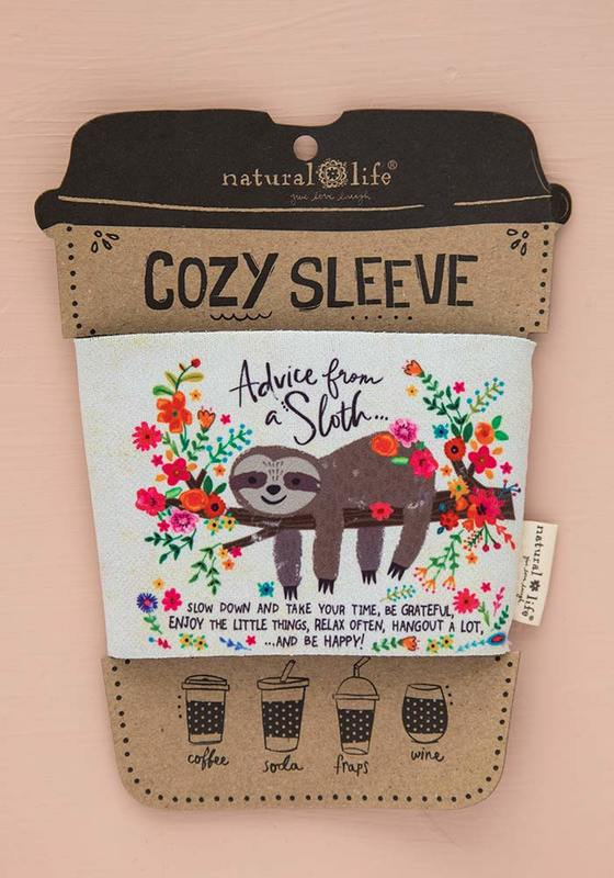 Natural Life: Cozy Sleeve - Advice From A Sloth