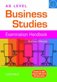 AS Level Business Studies Handbook by Andrew Gillespie image
