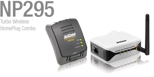 NetComm NP295 Turbo Wireless HomePlug Combo