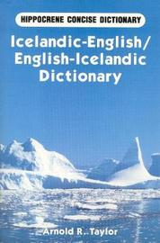 Icelandic-English / English-Icelandic Concise Dictionary by Arnold Taylor image