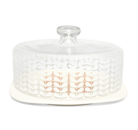 Orla Kiely Cake Plate With Glass Dome