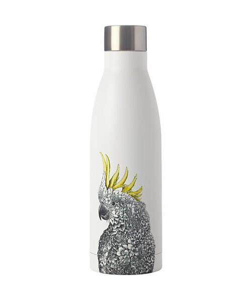 Maxwell & Williams: Marini Ferlazzo Double Wall Insulated Bottle - Sulplur-crested Cockatoo
