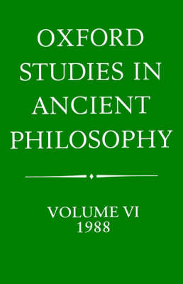 Oxford Studies in Ancient Philosophy: Volume 6 image