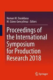 Proceedings of the International Symposium for Production Research 2018 image