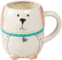 Natural Life: Ceramic Folk Mug - Love And A Dog