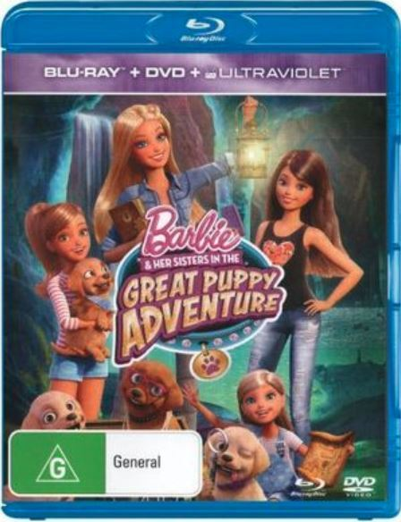 Barbie & Her Sisters In The Great Puppy Adventure on DVD, Blu-ray, UV image