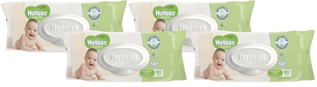 Huggies Baby Wipes Refill Shipper Pack - Cucumber & Aloe (320 Wipes)