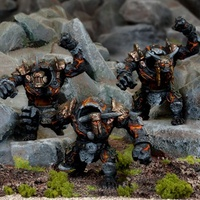 Kings of War Abyssal Dwarf Lesser Obsidian Golems
