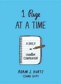 1 Page at a Time (Blue) by Adam J Kurtz