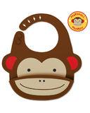Skip Hop: Zoo Fold & Go Silicone Bib Monkey