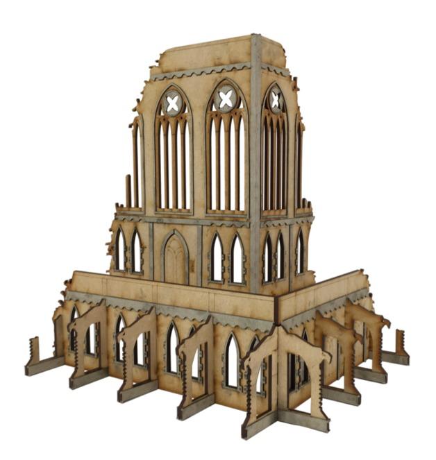 TTCombat: Tabletop Scenics – Gothic Corner Ruins B