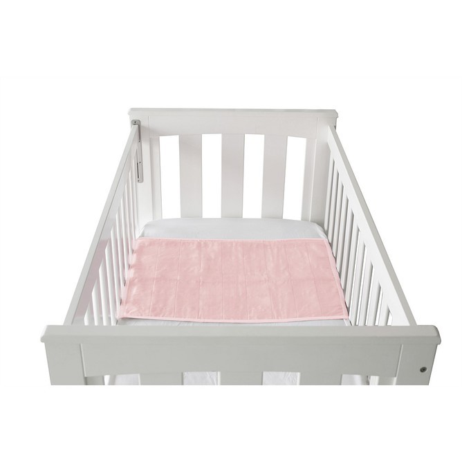 Brolly Sheet Cot Pad with Wings - Crystal Pink image