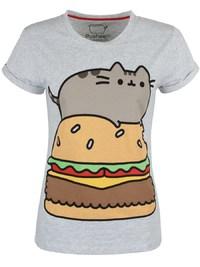 Pusheen Burger T-Shirt (X-Large)