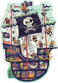 Djeco: 36-Piece Giant Puzzle - The Pirate Ship