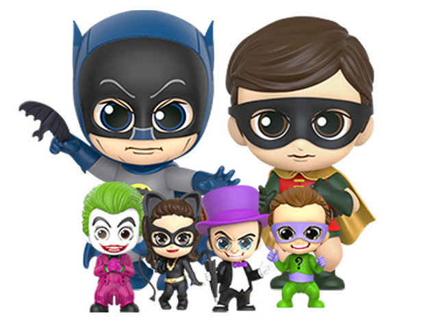 Batman (1966): Batman, Robin, & Villains - Cosbaby Set