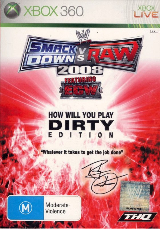 "WWE SmackDown! vs. RAW 2008 ""Fight Dirty"" Edition for Xbox 360"