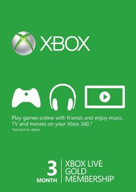 Xbox LIVE 3 Month Gold Membership Card for  image
