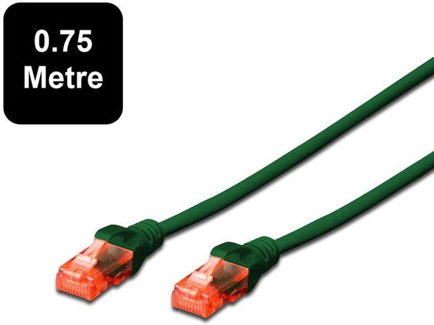 0.75m Digitus UTP Cat6 Network Cable - Green