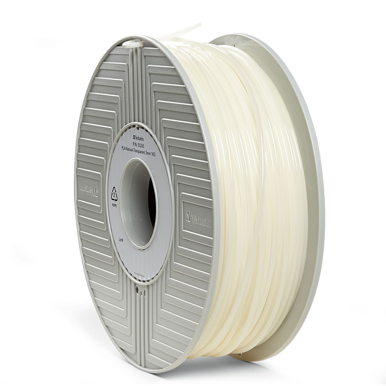 Verbatim 3D Printer PLA 3.00mm Filament - 1kg Reel (Transparent) image