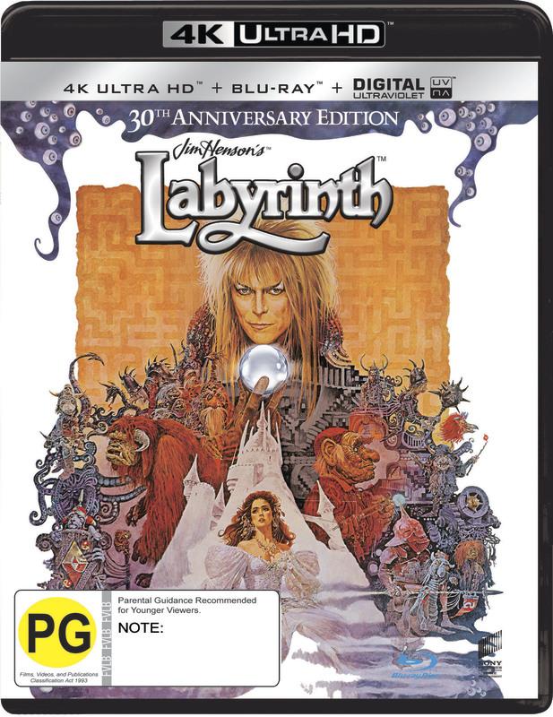 Labyrinth on Blu-ray, UHD Blu-ray, UV