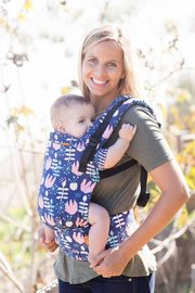 Baby Tula Free-to-Grow Canvas Carrier - Twilight Tulip