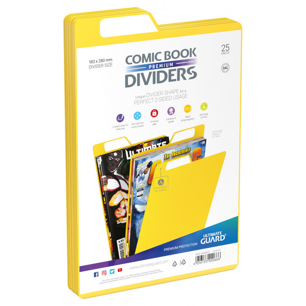 Ultimate Guard: Premium Comic Dividers - Yellow (25-Pack)