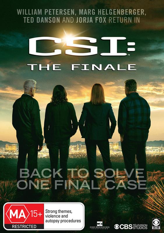 CSI: The Finale on DVD