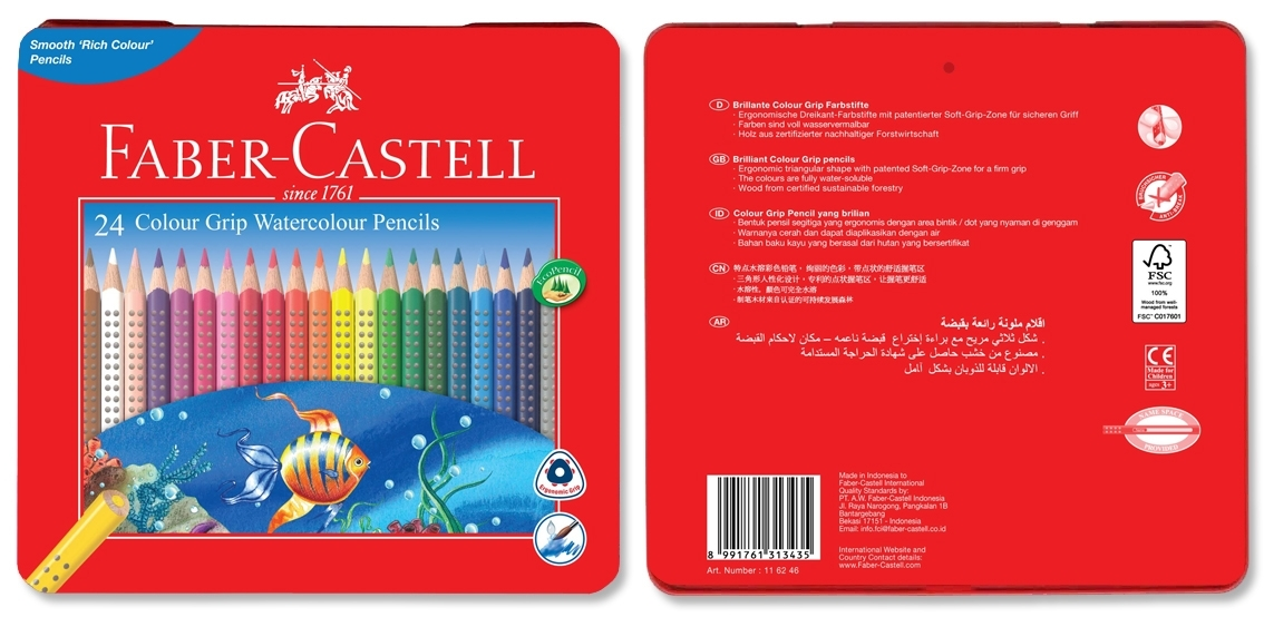 Faber-Castell: Grip Watercolour (Tin of 24) image