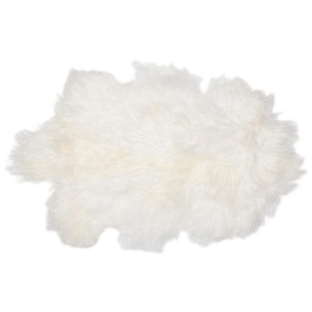 Bambury Mongolian Lambswool Rug (Cream)