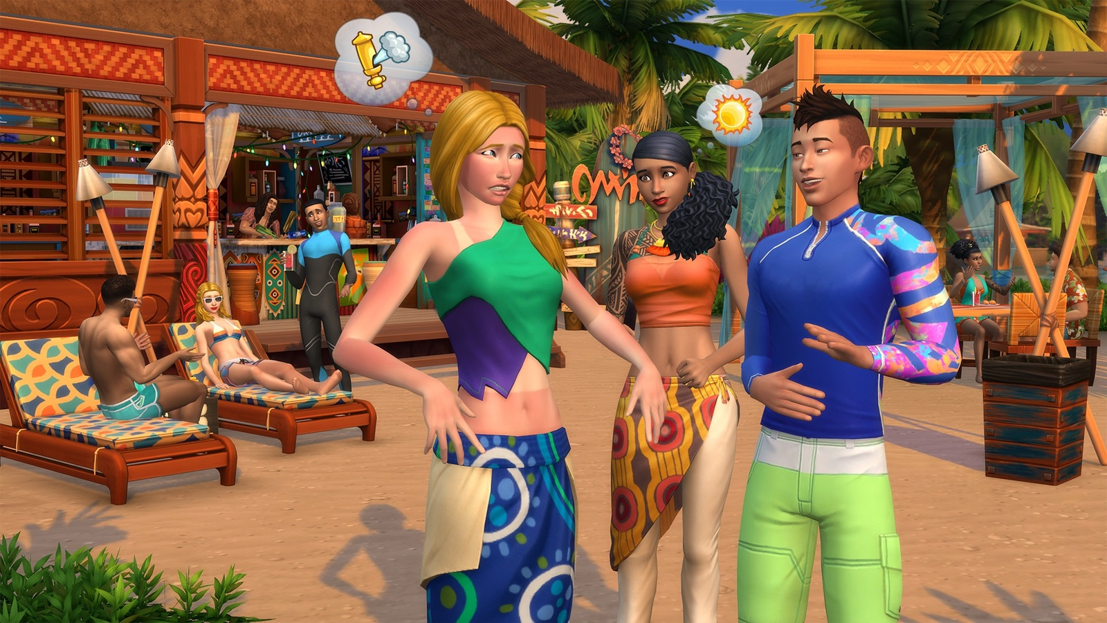 The Sims 4 Island Living (code in box) for PC image