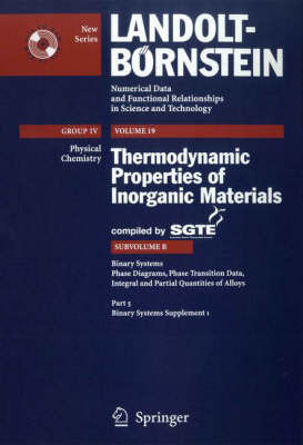 Binary Systems: Supplement 1 by Scientific Group Thermodata Europa (Sgte image