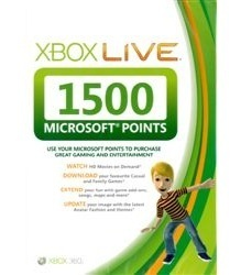 Xbox Live 1500 Points Card for Xbox 360