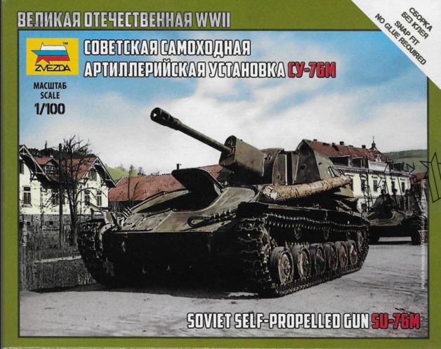 Zvezda 1/100 SU-76M Soviet S.P. Gun - Model Kit