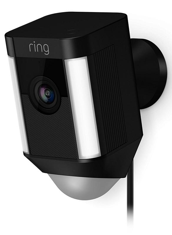 Ring: Spotlight Wired Camera - Black