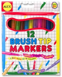 Alex: Washable Brush Tip Markers (12)