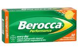 Berocca Performance Orange Flavour Effervescent Tablets (30 Tablets)