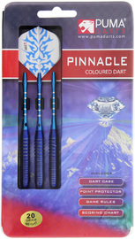 Puma: Pinnacle Brass Steel Darts - 20gm Blue (Set of 3)
