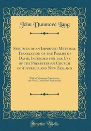 Specimen of an Improved Metrical Translation of the Psalms of David, Intended for the Use of the Presbyterian Church in Australia and New Zealand by John Dunmore Lang image
