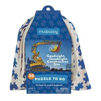 Mudpuppy: Goodnight Construction Site - Puzzle To Go