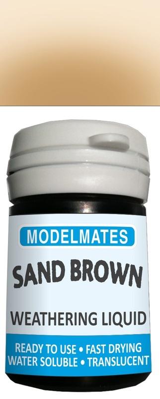 Modelmates: Translucent Weathering Liquid – Sand Brown