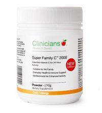 Clinicians: Super Family Vitamin C 2000mg Powder (150g)