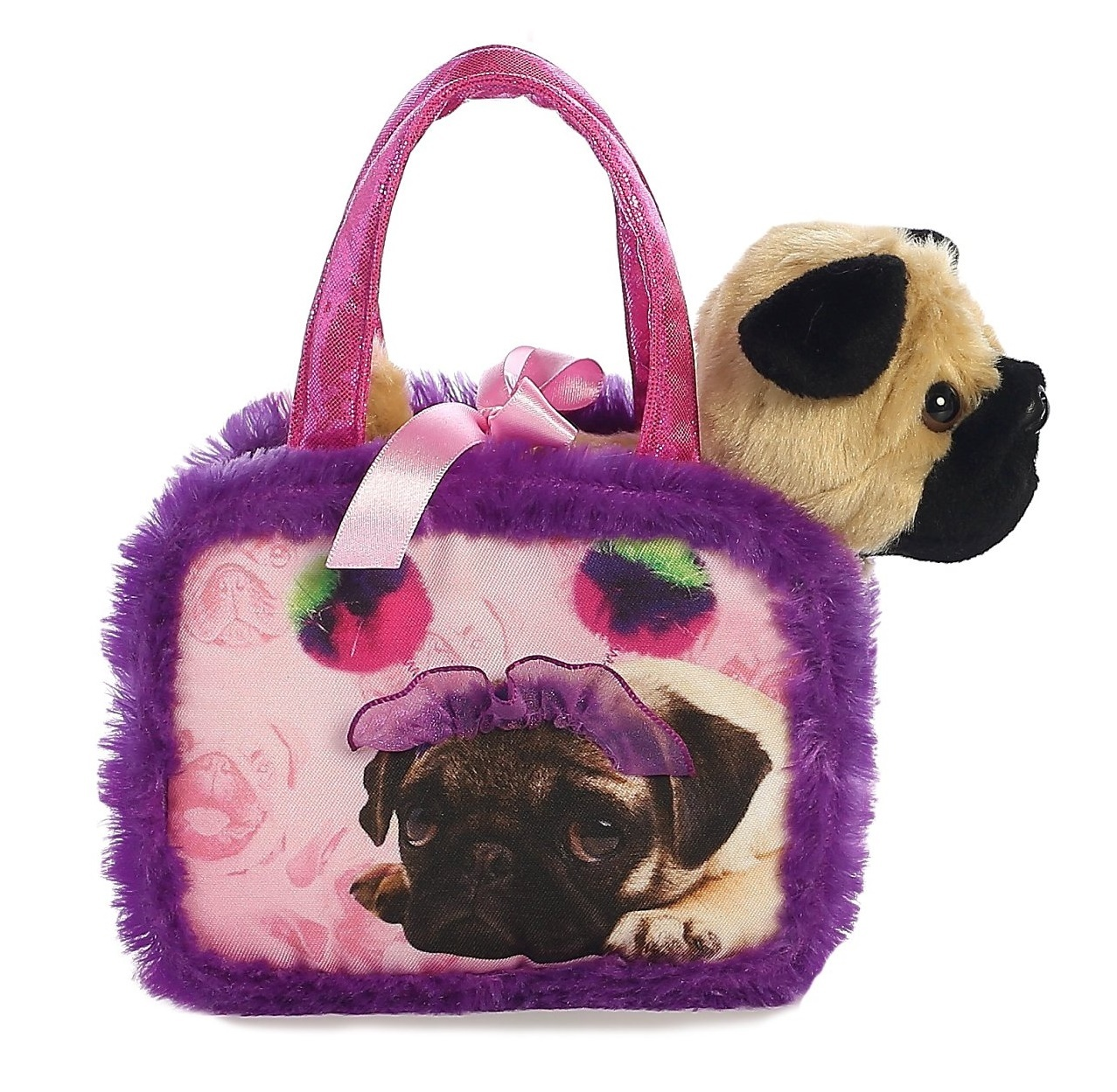 Fancy Pal Pet Carrier Pompom Pug Toy At Mighty Ape Nz