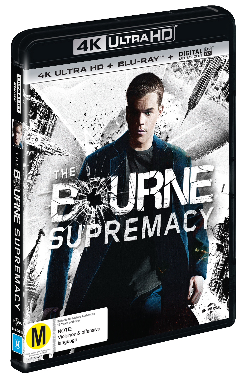 The Bourne Supremacy on Blu-ray, UHD Blu-ray, UV image