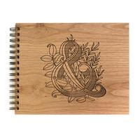 Cardtorial Wooden Guestbook - Ampersand
