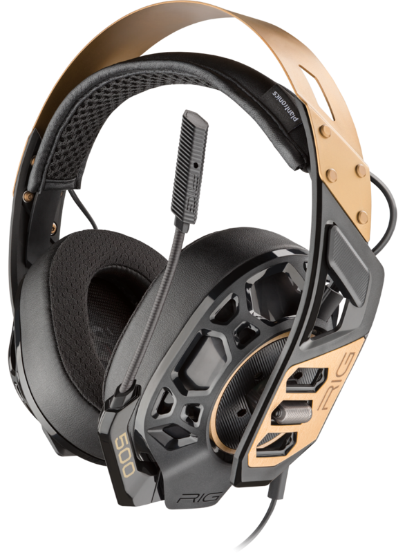 Plantronics RIG500 PRO Gaming Headset - Gold for PC